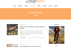 Elegante – Clean And Elegant WordPress Blog Theme