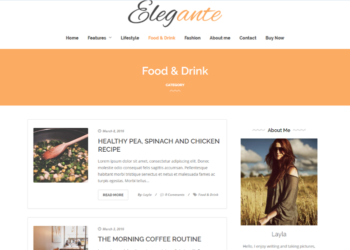 Elegante WordPress