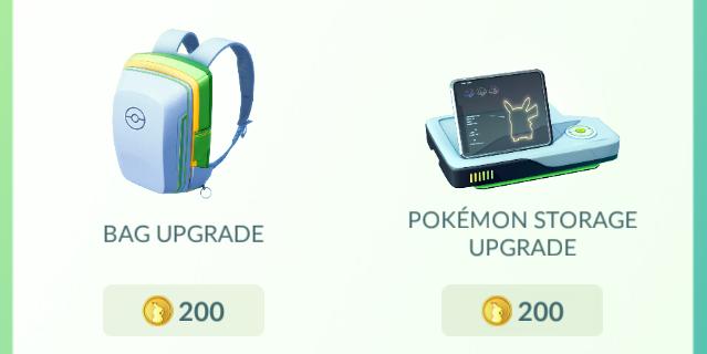 bag upgrade