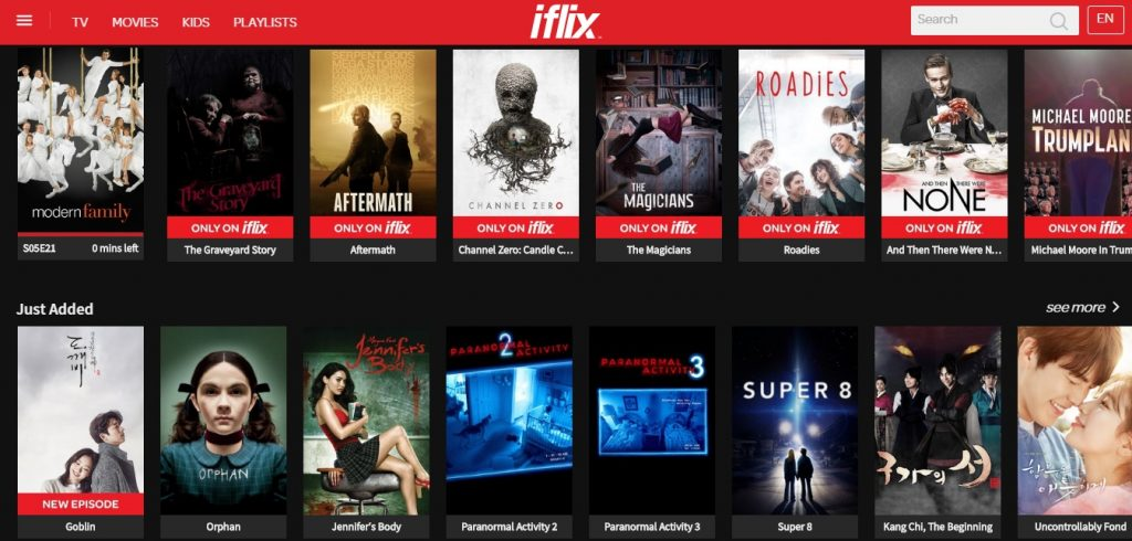 Some of the shows on iflix Malaysia