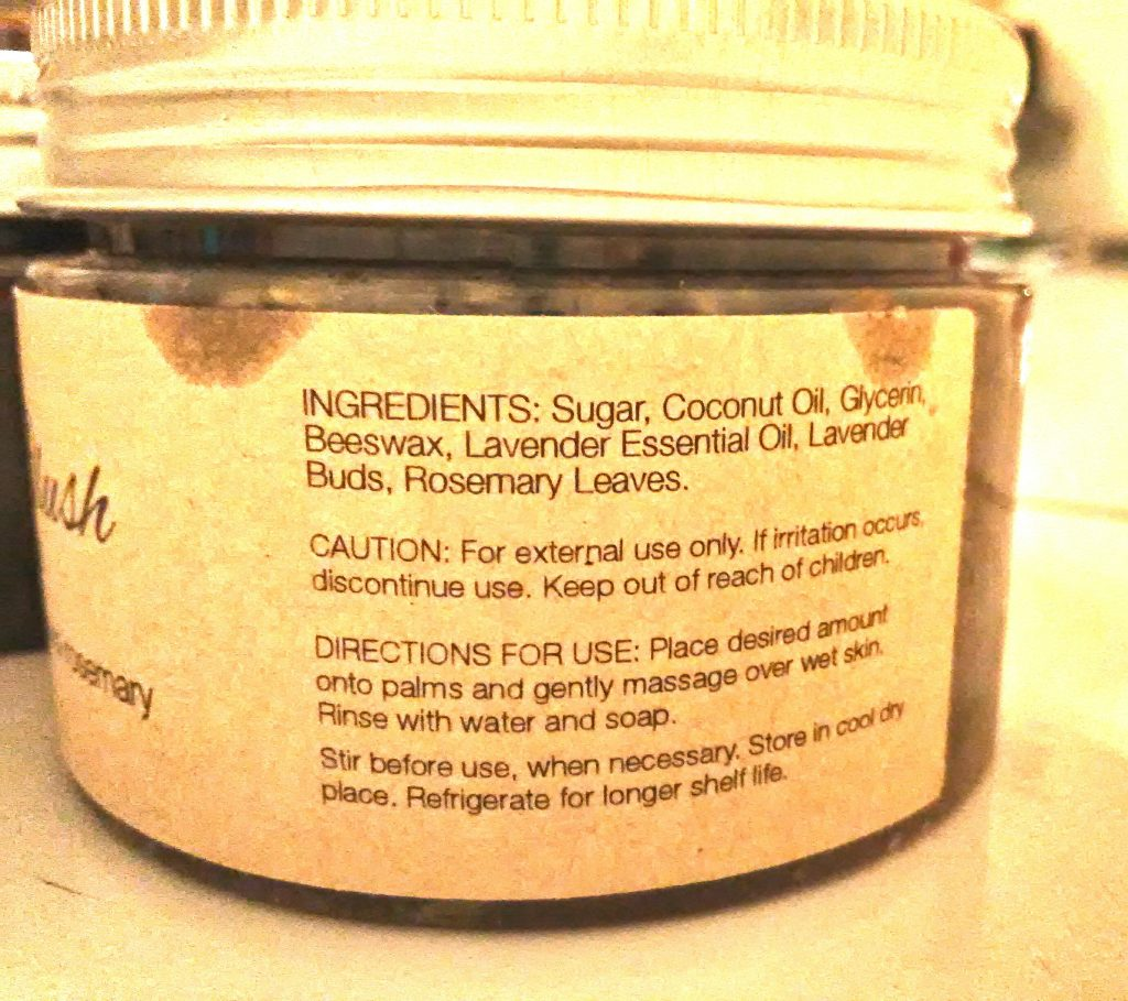 SweetGlo Body Scrub Purple Blush Ingredients