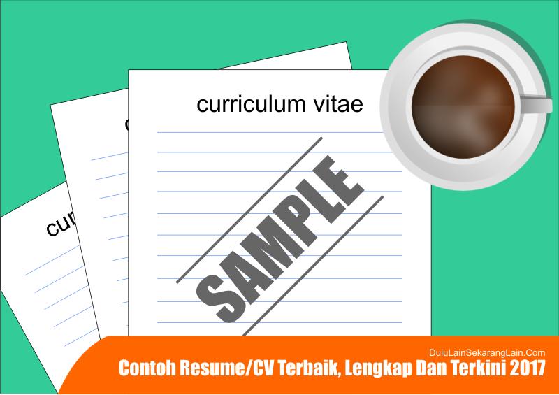 Contoh CV resume