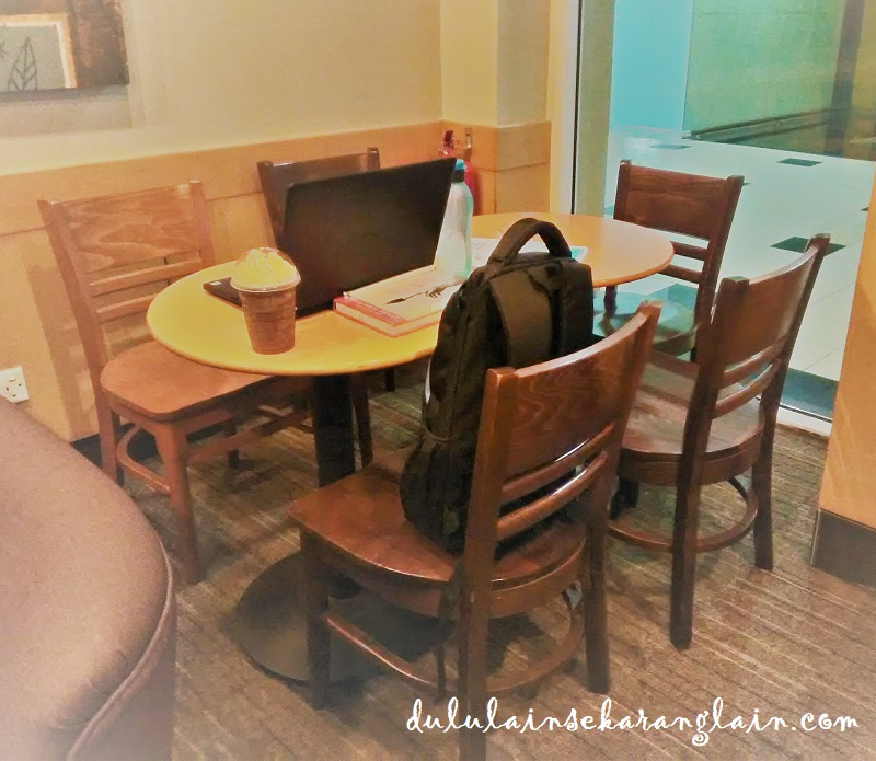 A seating area at Starbucks